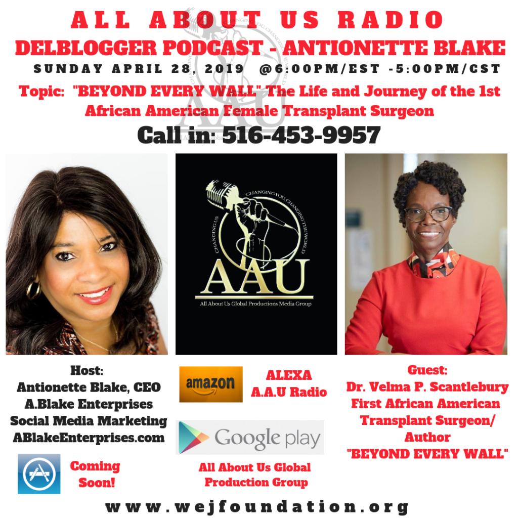 Dr. Velma Scantlebury on the DelBlogger Podcast