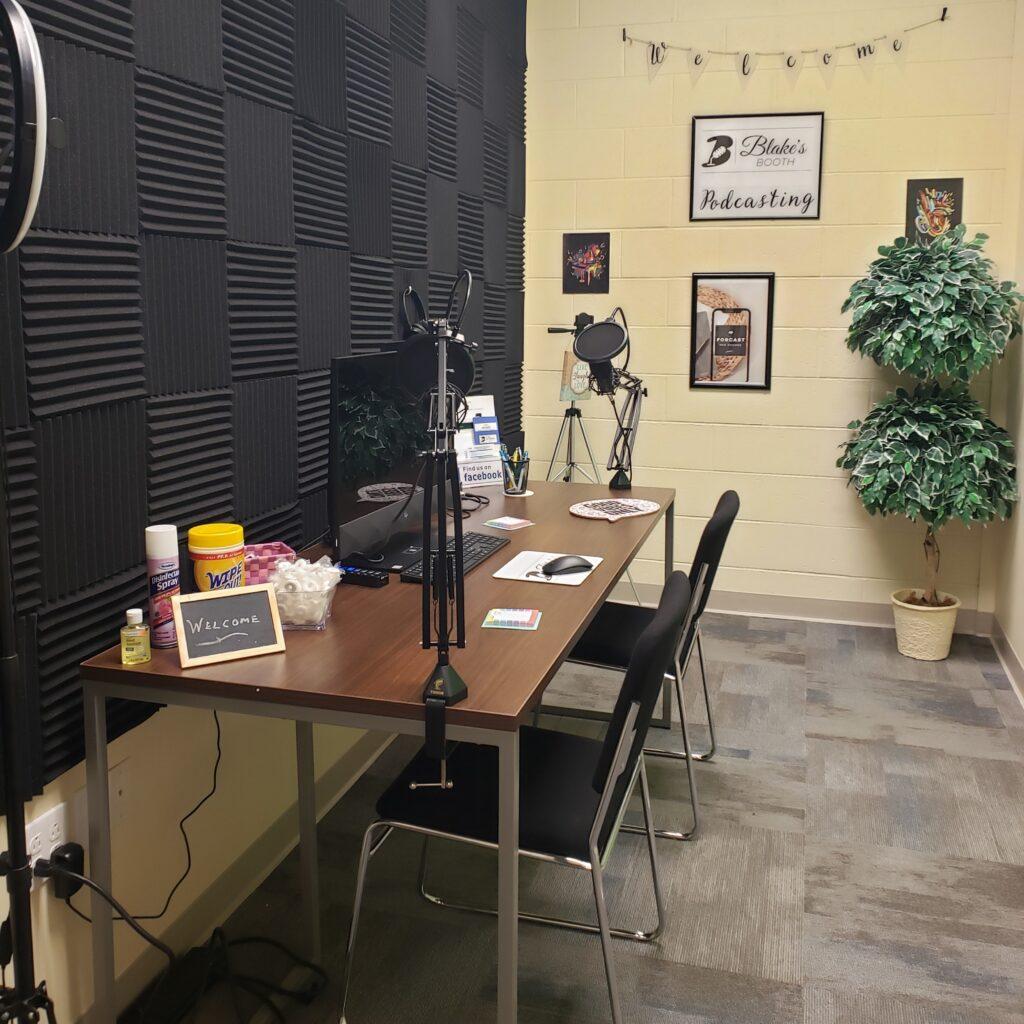 Blake's Booth Podcasting Studio